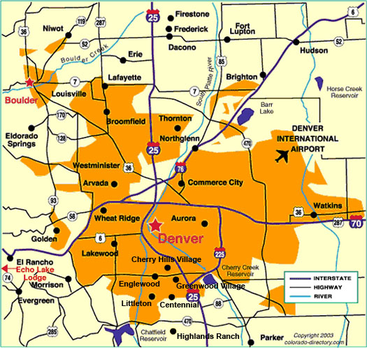 Map of the Denver Metro Area and other local information